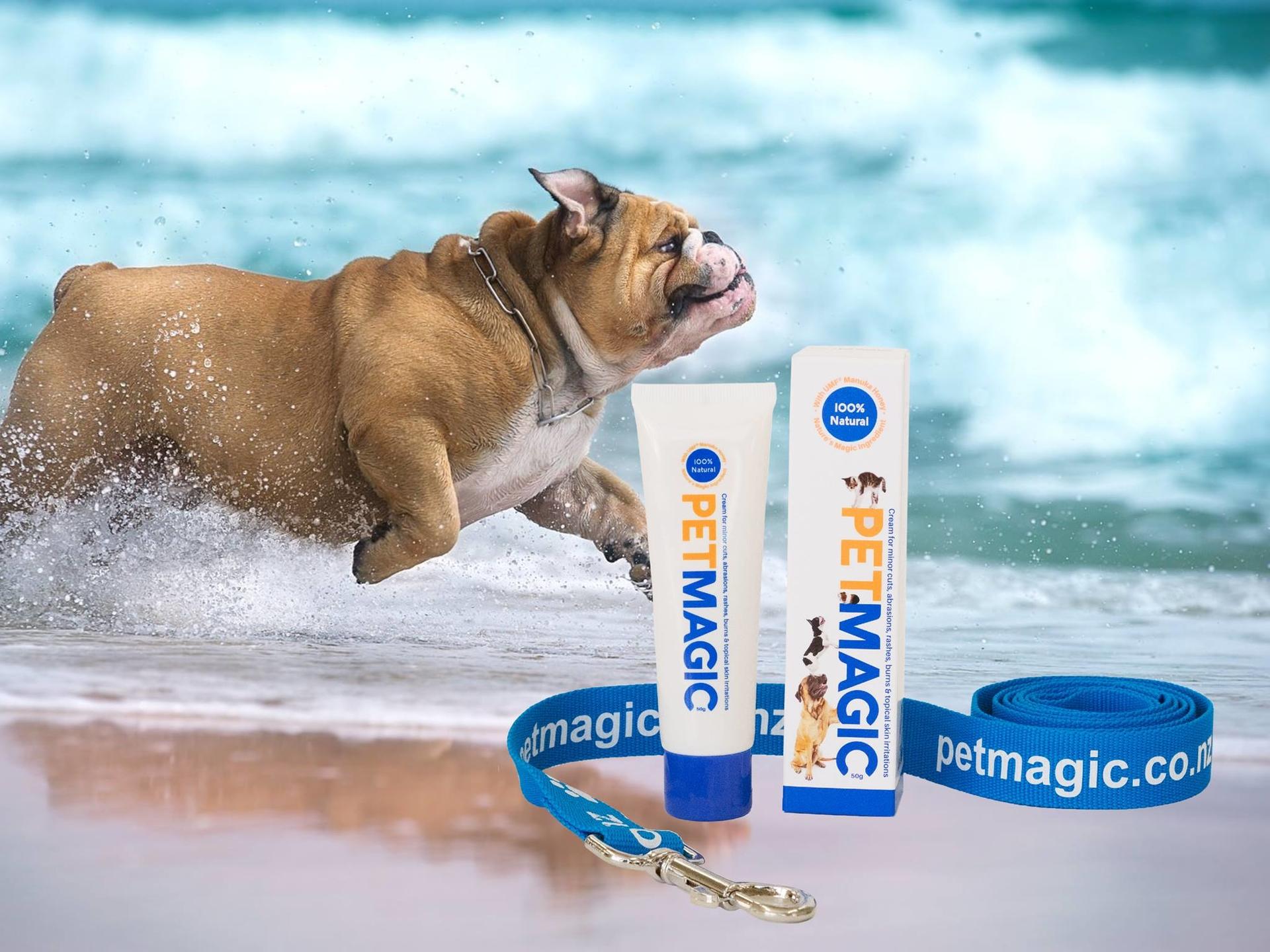 Wondverzorging bij hond met Pet Magic Manuka honing wondzalf
